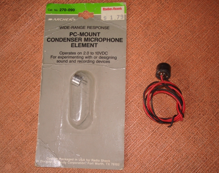 Figure 4 - Small condenser microphones.