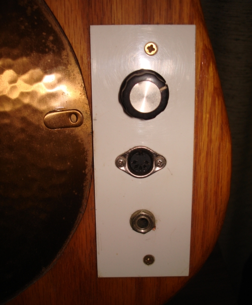 Figure 8 - MIDI style connector installed in place of tone control.