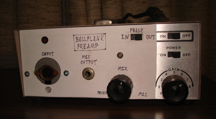 Figure 10 - Front of Bellplank preamp/mixer.