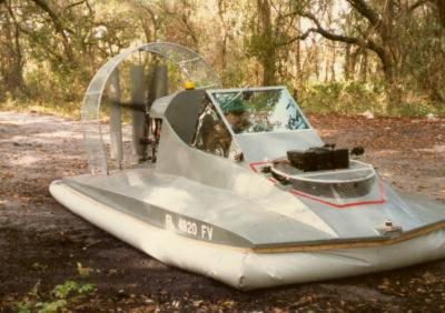 This photo shows Sid's hovercraft running a couple of months after initial operation.
